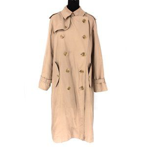 Burberry Tan Double Breasted Belted Trench Coat 40